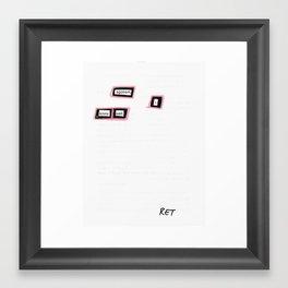 Egotism Framed Art Print