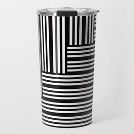 Crossed tape black & white Travel Mug