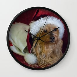 Yorkshire (yorkie) / Silky Terrier Christmas Wall Clock