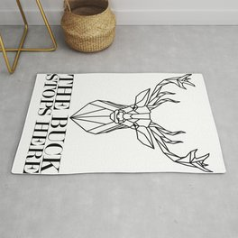 Deer Hunter The Buck Stops Here Deer Hunting Rug