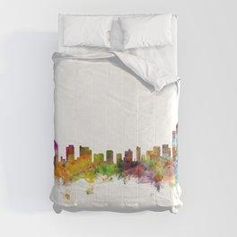 Wilmington Delaware Skyline Comforters