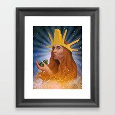 Princess Kiss Framed Art Print