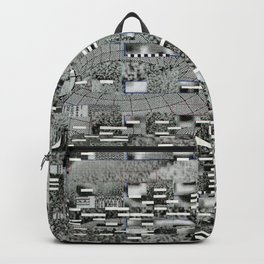 Highly Resolved Ghost (P/D3 Glitch Collage Studies) Backpack
