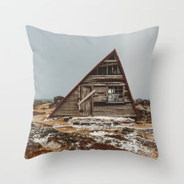 Icelandic Asymmetrical A-Frame Cabin Throw Pillow
