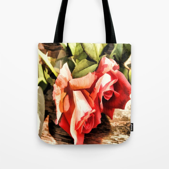 Timeless Tropicana Roses Tote Bag