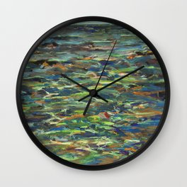 Marked Pools Wall Clock