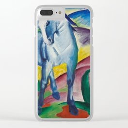 Blue Horse I Clear iPhone Case
