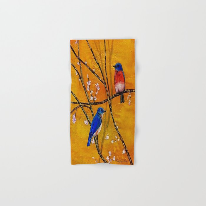 Blue Birds Hand & Bath Towel