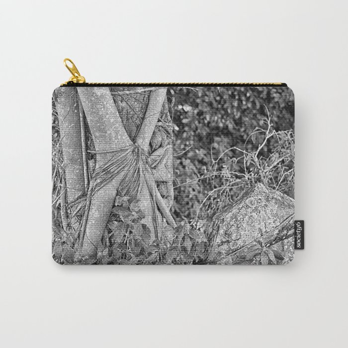 Strangler fig and boulder in the rain forest Carry-All Pouch