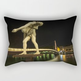 Lyon Bridge Statue by night Rectangular Pillow