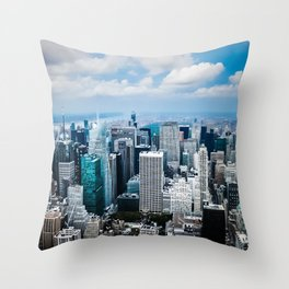 From New York to the Sky at the Manhattan Big Apple Dream Throw Pillow