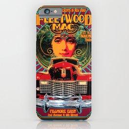 Vintage-Music Art - Fleet-wood-Mac In Concert-1969 At-Fillmore-East iPhone Case