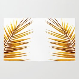 golden palm leaf II Rug