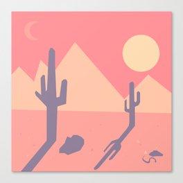 Vintage Desert Cutout Canvas Print