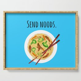 Send noods. Chow mein noodle art. Serving Tray