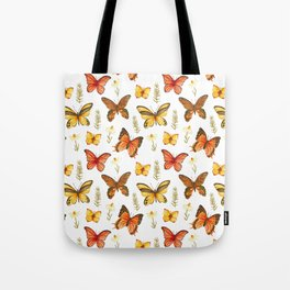 Butterfly Totem White Background Tote Bag