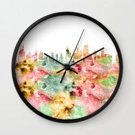 Chicago City Skyline Illinois Wall Clock