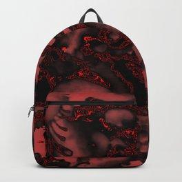 Burnt Velvet Red on Black Backpack