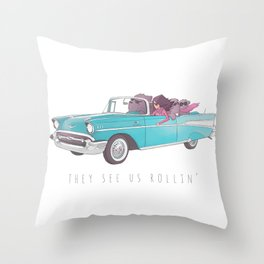 The See Us Rollin' Throw Pillow