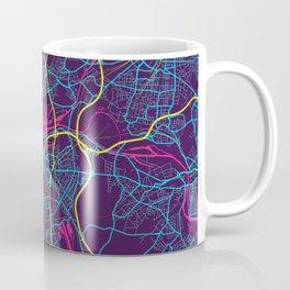 Duisburg Neon City Map, Duisburg Minimalist City Map Art Print Coffee Mug
