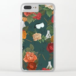 Chemistry Floral Clear iPhone Case