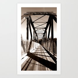 Shadowed Bridge Art Print