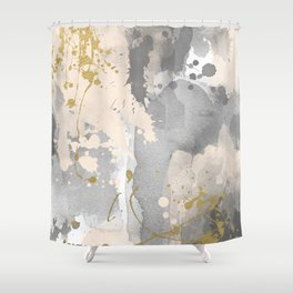 Gray abstract painting Shower Curtain