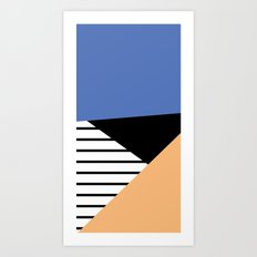 shapes and stripes Art Print