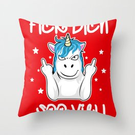 Fuck You So Much Funny Unicorn Gift Throw Pillow