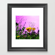 flower field abstract IX Framed Art Print