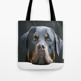 Rottweiler Portrait Vector Tote Bag