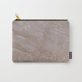 Beige shimmer marble gradient Carry-All Pouch
