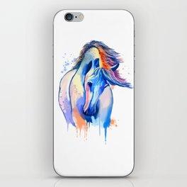 Horse Watercolor, Horse Painting, Horse Portrait, Horse art, Horse illustration iPhone Skin