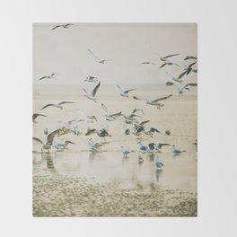 My heart beats in a million gulls Throw Blanket