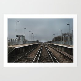 Normans Bay Train Station. Art Print