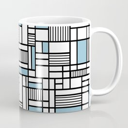 Map Lines Sky Blue Coffee Mug