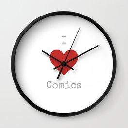 I love comics Wall Clock