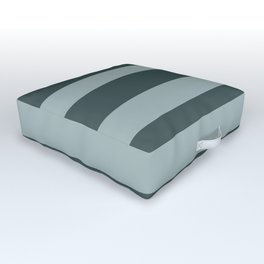 Blue Willow Green PPG1145-4 Bold Hand Drawn Horizontal Stripes on Night Watch PPG1145-7 Outdoor Floor Cushion