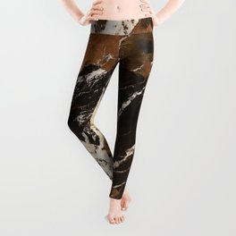 Sienna Brown and Black Marble With Creamy Veins Leggings