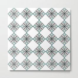 Vintage Bohemian Aztec Inspired Pattern Metal Print