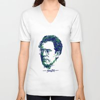 gustav klimt V-neck T-shirts featuring Gustav Mahler by Fortissimo6