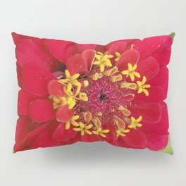 Red, RED Zinnia Pillow Sham