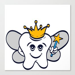 Tooth Fairy A Cute White Teeth Great Gift For Dentists Doctors, Dental Technician T-shirt Design Canvas Print