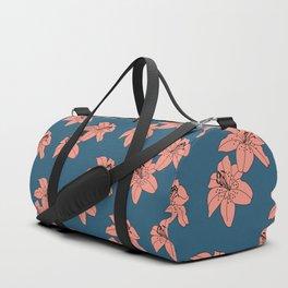 Lily The Tiger - Peach Blue Duffle Bag
