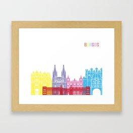 Burgos skyline pop Framed Art Print