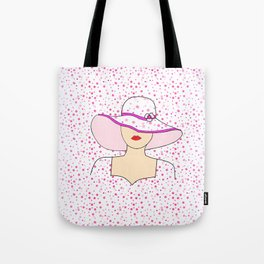 Fashion Portrait Tote Bag