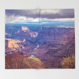 Grand Canyon and the Colorado River Throw Blanket