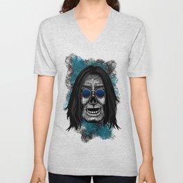 Ozzy style Errorface Skull Unisex V-Neck