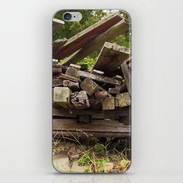 Reclaimed Woodpile iPhone Skin