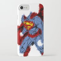 man of steel iPhone & iPod Cases featuring Man Of Steel by alsalat